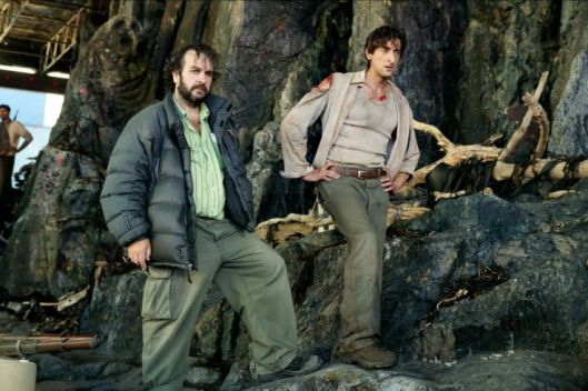 Peter Jackson, Adrien Brody, King Kong set